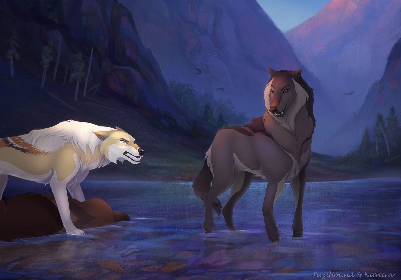 Collab traitor by naviira on deviantart - Anime wolves in love ...