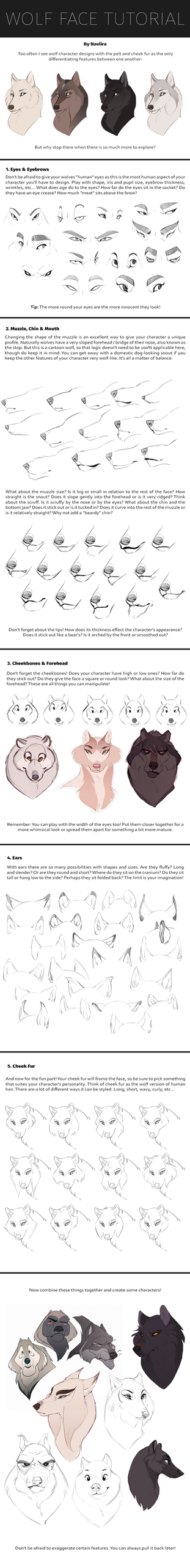 Wolf Face Tutorial by Naviira
