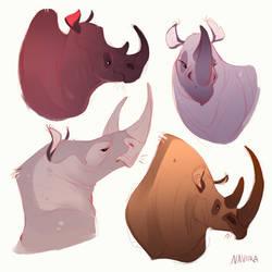 Rhinos by Naviira