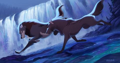 Moonlit Chase by Naviira