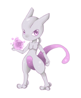 Mewtwo by oOCreamyCupcakeOo