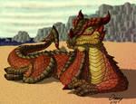 Pensive Beach Dragon