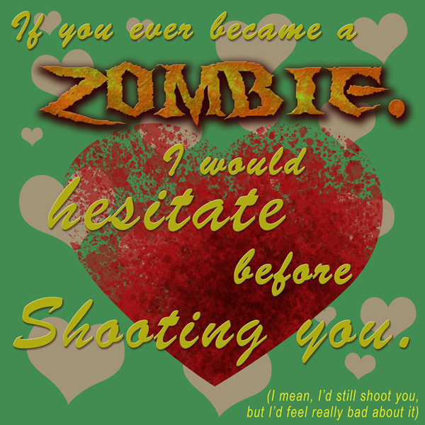 Zombie Valentine Card by Omny87