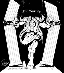 Inkvember #07: Rumbling by Omny87
