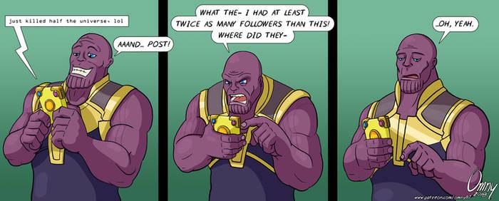 Thanos' Social Media (Spoilers!)
