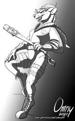 Yvette Up to Bat (For Marcin)