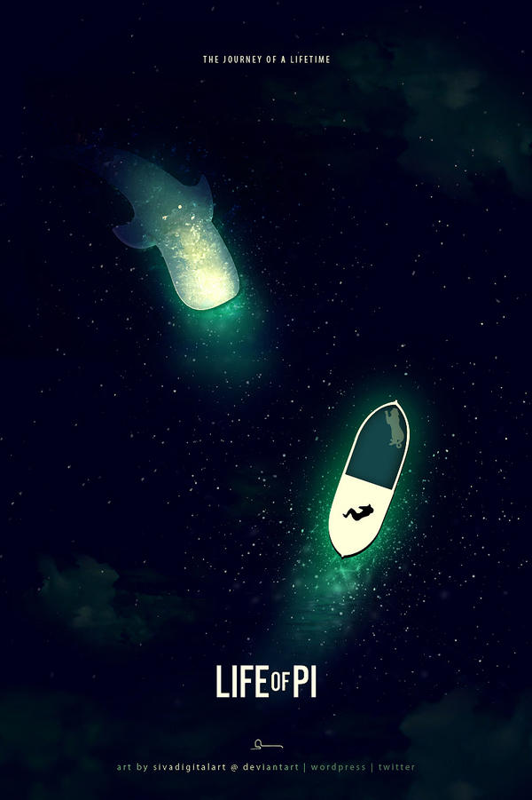 Life of pi 2013 fanart poster by sivadigitalart on for Minimalist living movie