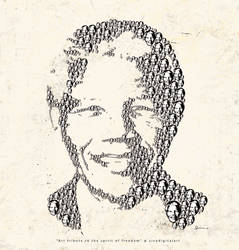 NelsonMandela sivadigitalart art tribute by sivadigitalart