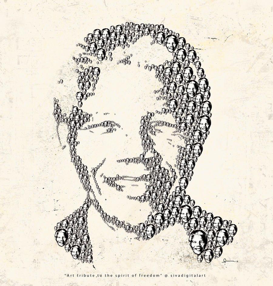 NelsonMandela sivadigitalart art tribute