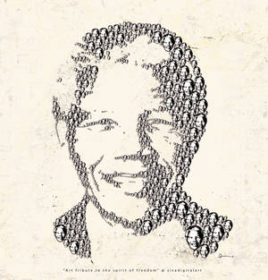NelsonMandela sivadigitalart art tribute