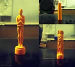 Oscar Statue - Chalk Stick Carving!