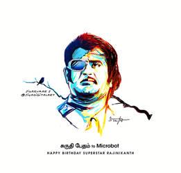 Happy Birthday SuperStar Rajinikanth. by sivadigitalart