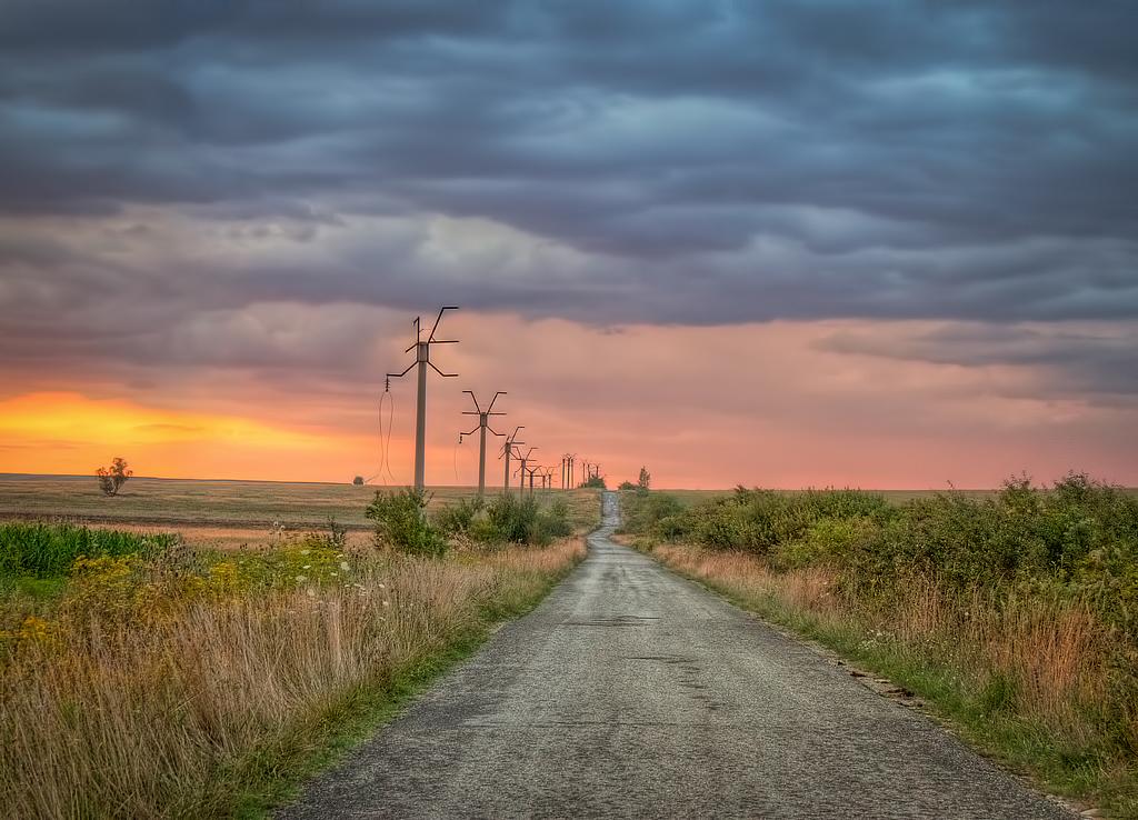 Road sunet by AlexPastor