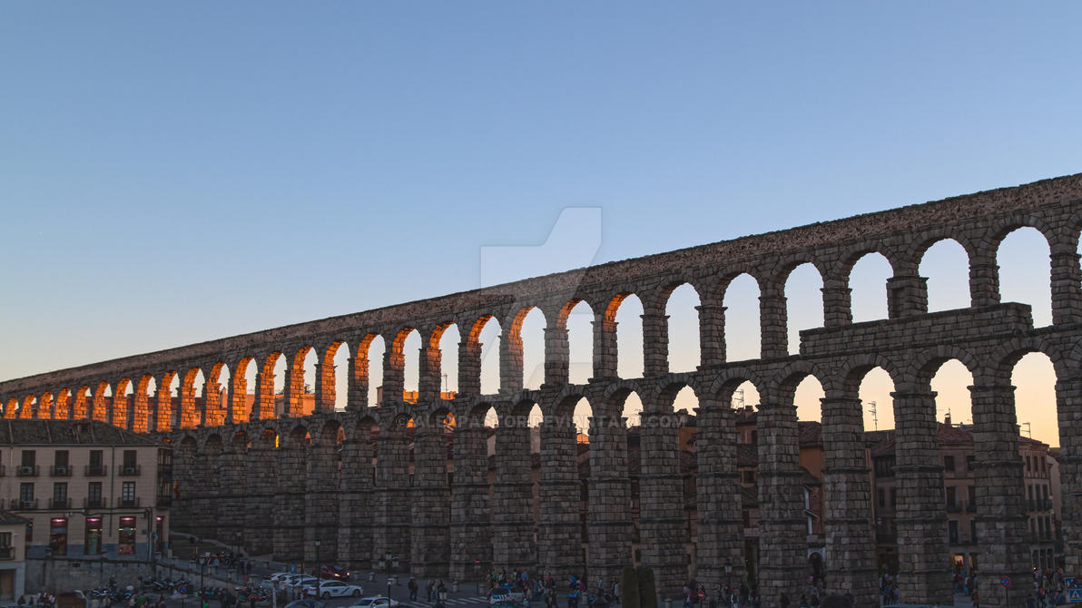 Aqueduct Sunset - Segovia by AlexPastor