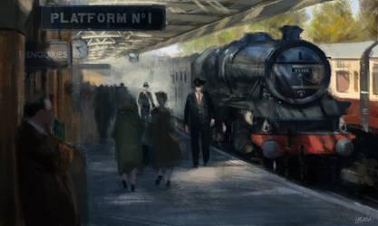 Platform N 1 - Painting Sketch Study 03 by OBLIVIONHUNTER1