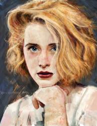 Claire Foy - Color Study by OBLIVIONHUNTER1