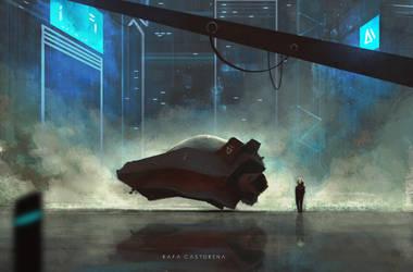 New Ride - Storytelling Sci-Fi Concept Art by OBLIVIONHUNTER1
