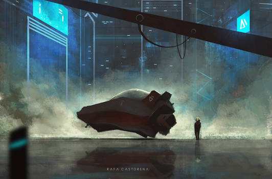 New Ride - Storytelling Sci-Fi Concept Art