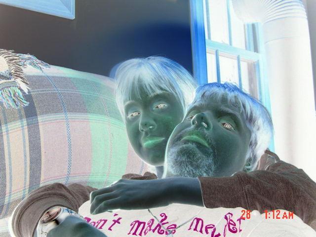 Cuddle In Negative Art by jester81