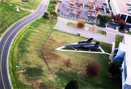 Sr71 Blackbird From Sky by jester81