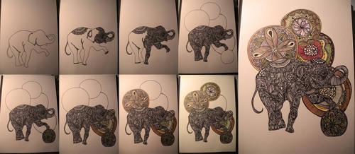 the elephant. by artbyangelaa