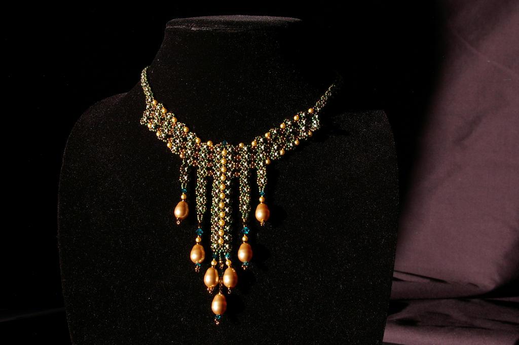 Ribbon Lace necklace by mormongirlbyu