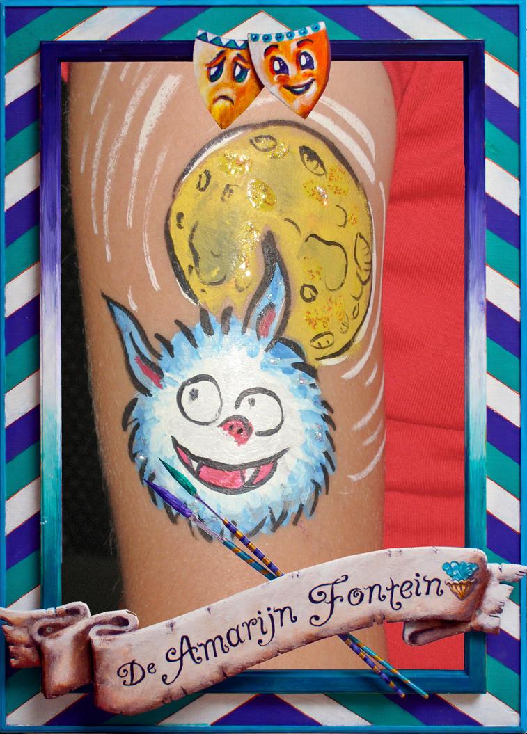schmink/body art Dolfje weerwolfje by pavalo
