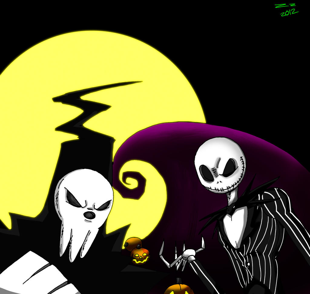 Jack Skellington and Lord Death by ZzNightmareGirlzZ