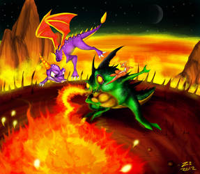 Spyro and Sheila vs Buzz by ZheyZhey