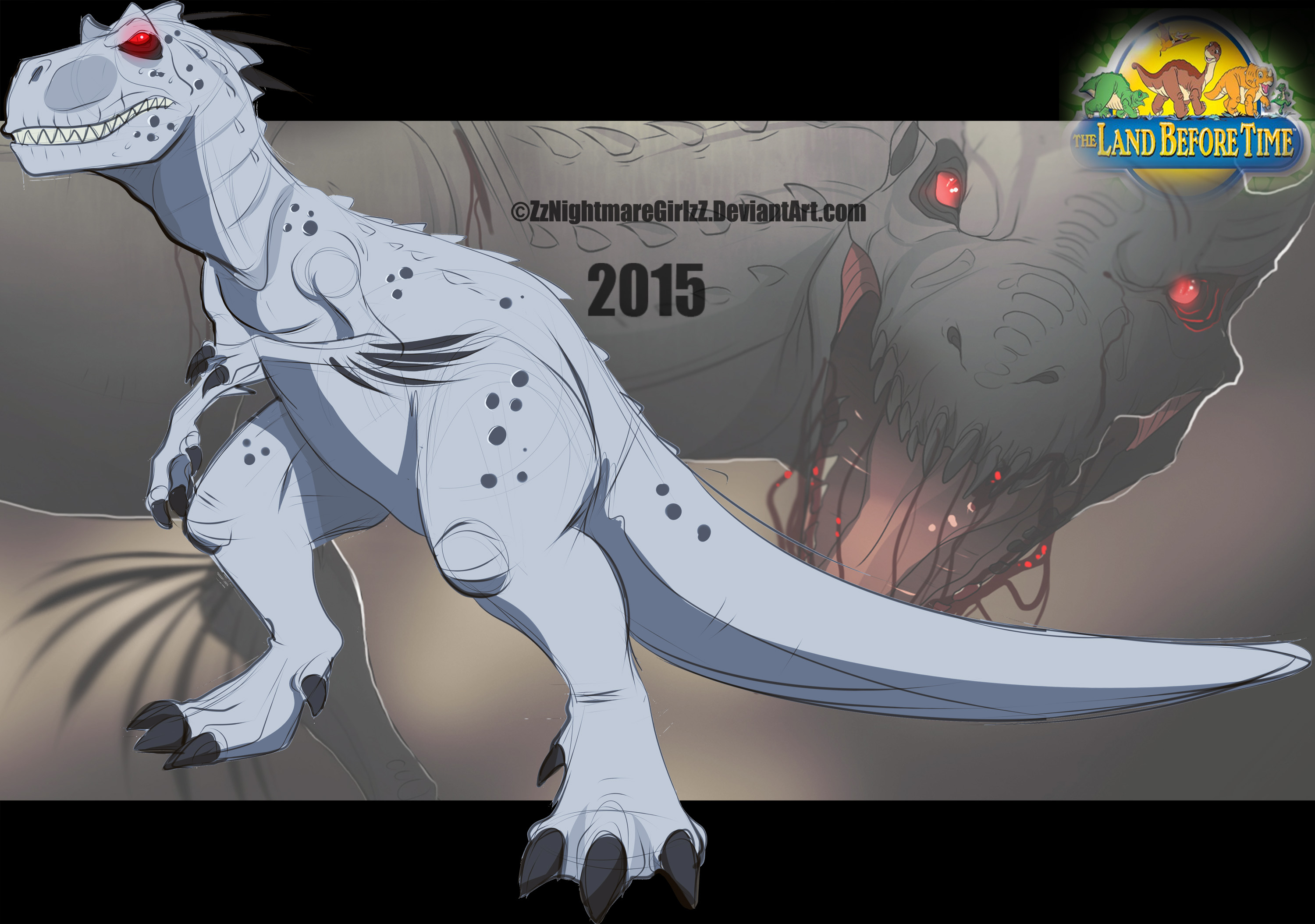 The Land Before Time: Indominus Rex by ZheyZhey