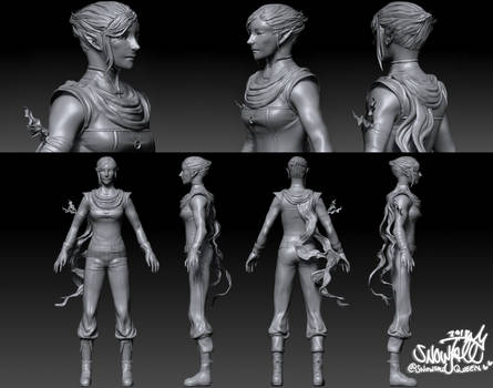 Feyaire The Free - 3d sculpt