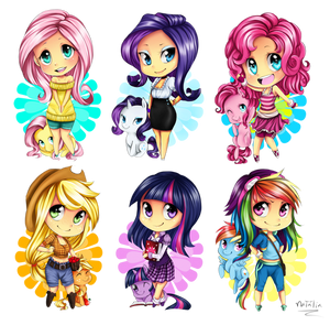 Chibi MLP - The mane 6
