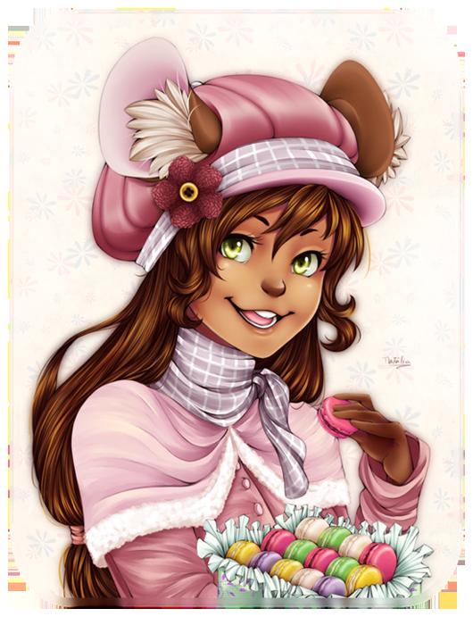 Fraise et les macarons by Nataliadsw