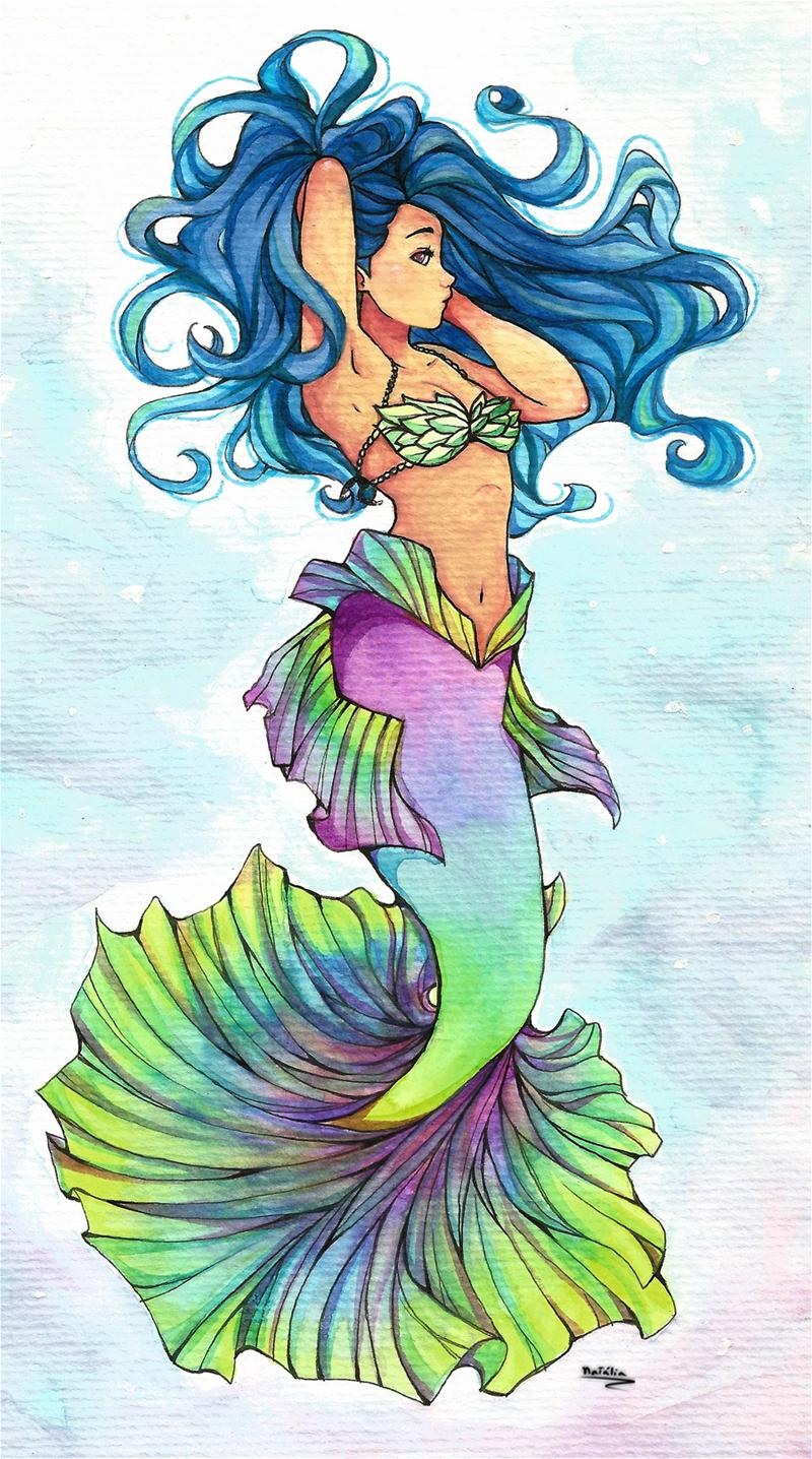 watercolor mermaid by nataliadsw on deviantart