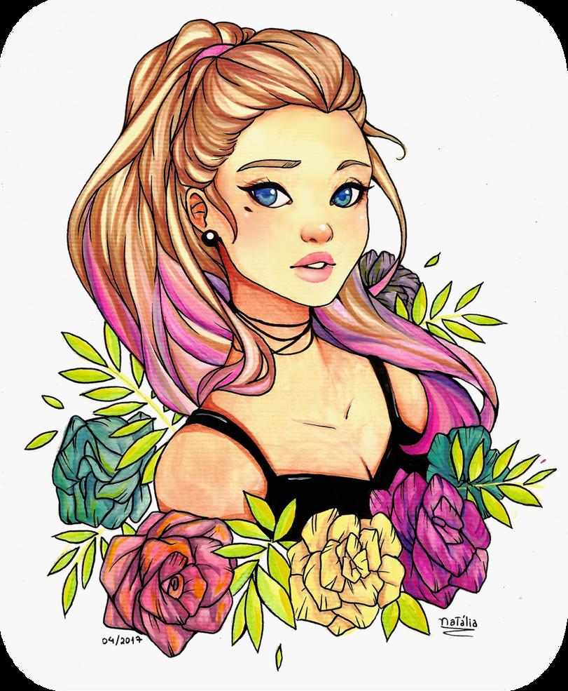 Stare - watercolor by Nataliadsw