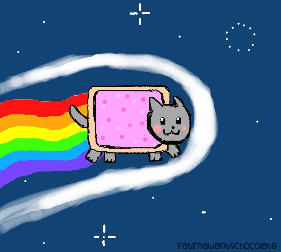 Cherry Pop Tarts Nyan Cat The Nyan Cat Pop Tart Kitty