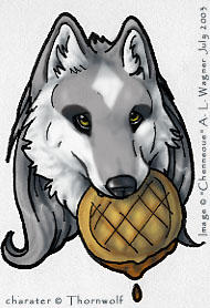 Thornwolf gift art by chenneoue