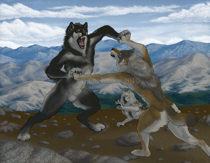 WIP - Werewolf Fight 5 by chenneoue on DeviantArt