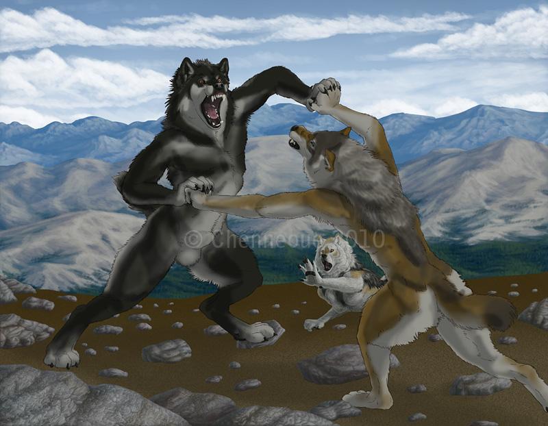 Werewolf Vs Werewolf Fight