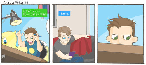 Artist vs Writer Strip 4 by nearmintmill