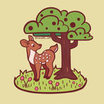 Zacky's PinTober day 23 - Deer and Tree