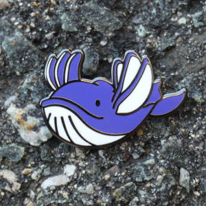 Whale Fly Enamel pin