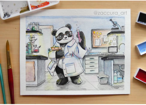 Panda Chemist (Commission)