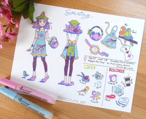 Spring   Original Character Design