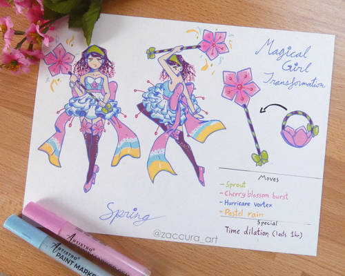 Spring - Magical Girl Transformation   OC