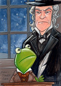 Kermit and Caine by danidraws