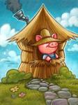 Little Pig iPad painting