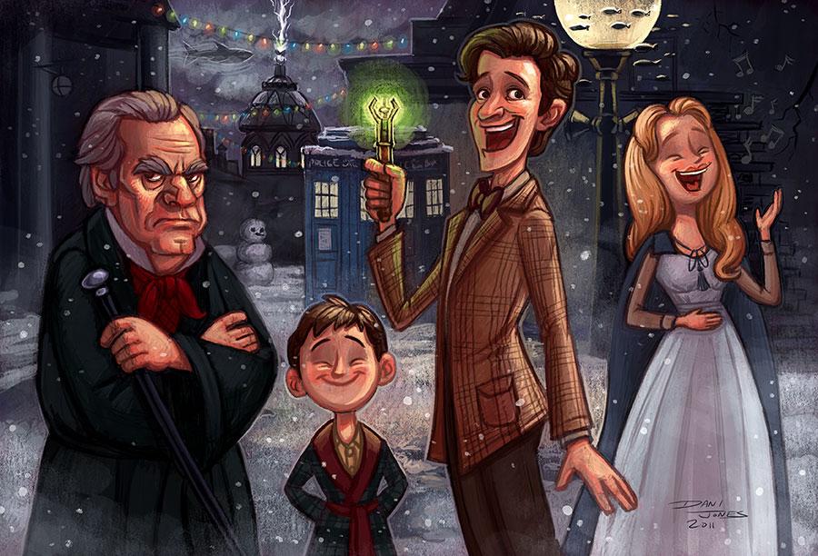 Doctor Who Christmas Carol by danidraws