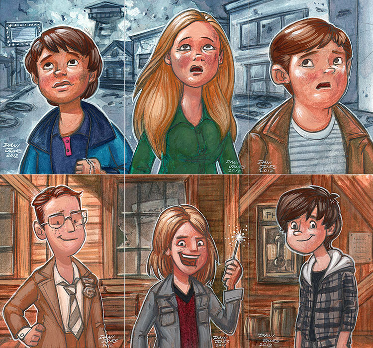 Super 8 Kids by danidraws