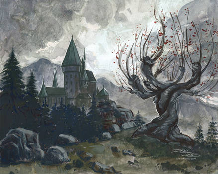 Hogwarts and the Whomping Willow